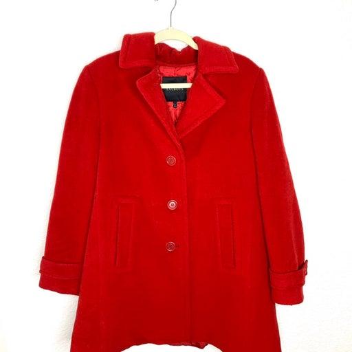 Talbots Red Wool Pea Coat Women's sz 10