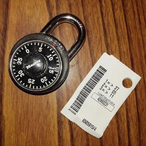 NEW Master Lock Combination Padlock, 1D573 School lock