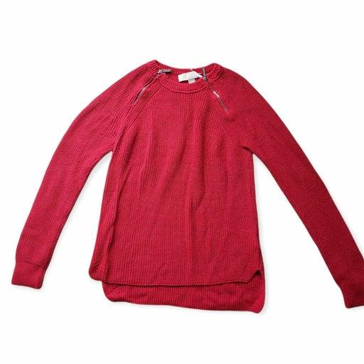 Michael Kors Red Neck Zippers Sweater