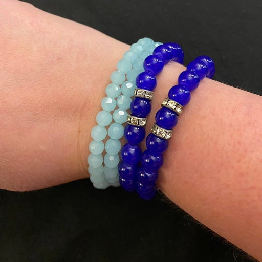 Blue Beaded Bracelets