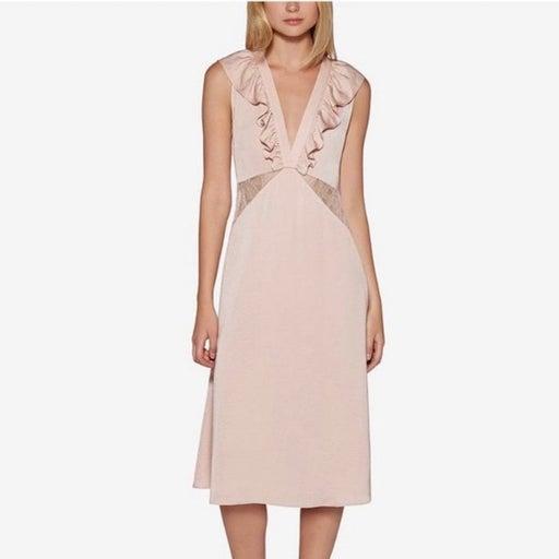 NWT $128 Avec Les Filles Blush Midi Dress