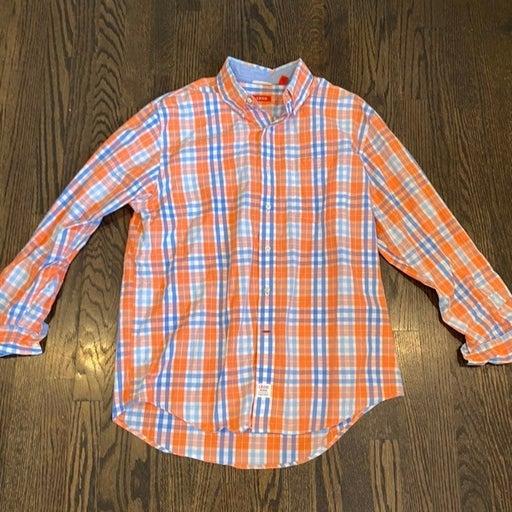 Izod plaid button down shirt