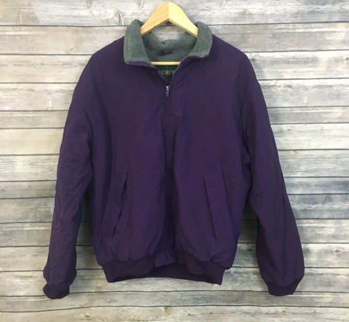 J. Crew Purple Fleece Lined Jacket
