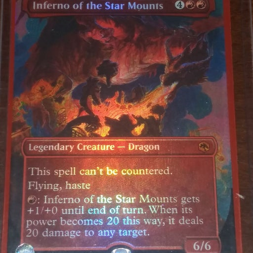 MTG Inferno of The Star Mounts Foil BN