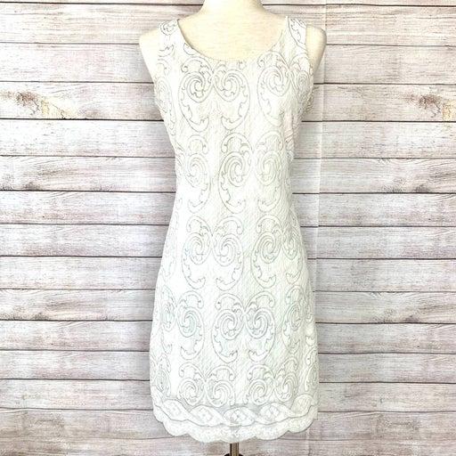 CHELSEA & VIOLET Silver Accent Dress M