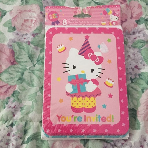 Hello Kitty Party Invites And Postcards