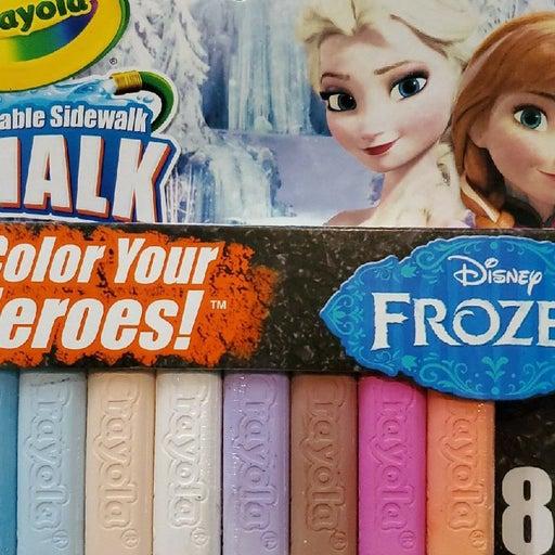 Crayola Washable Sidewalk Chalk - Frozen