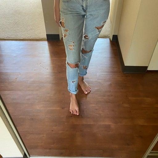 Levi's destroyed denim jeans