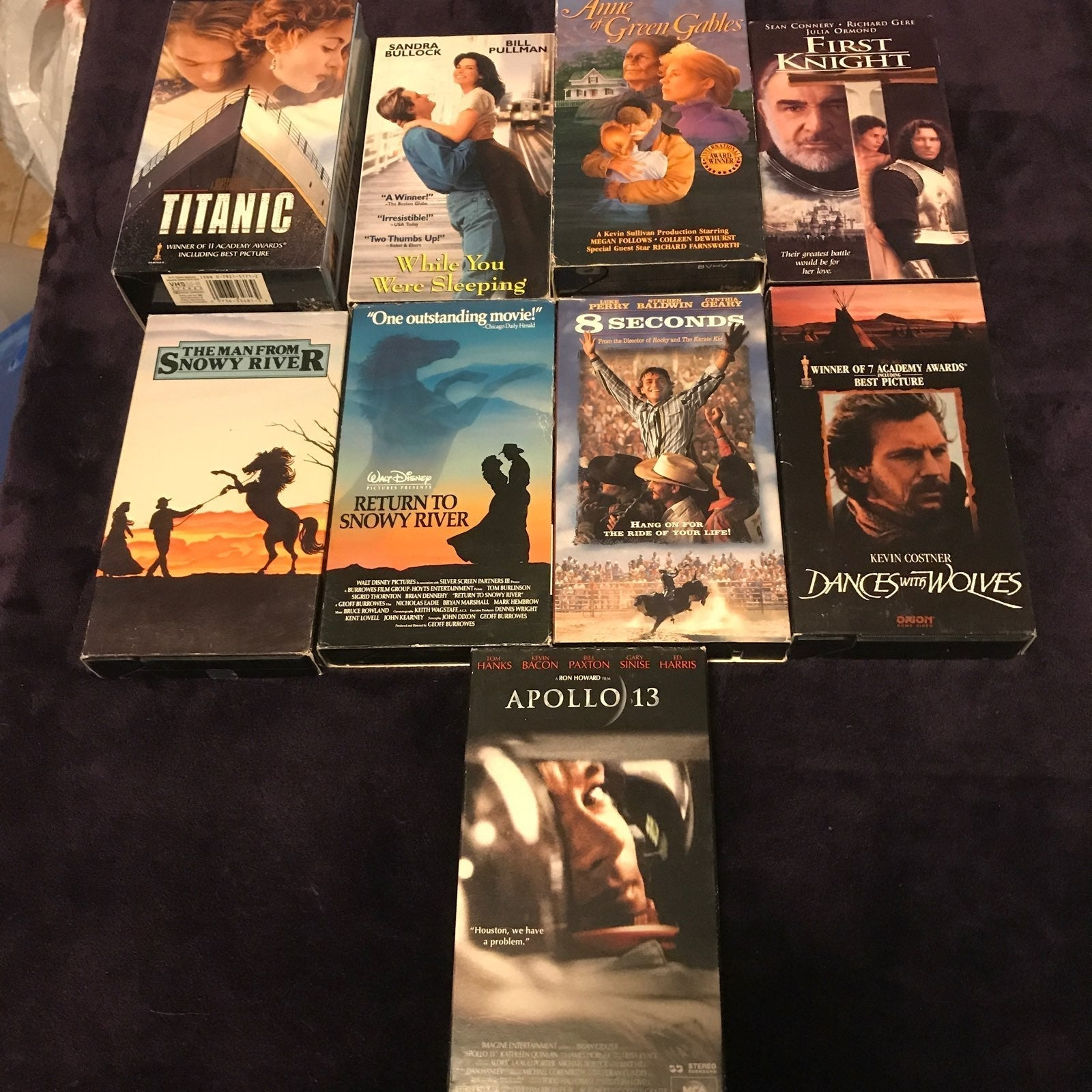 vhs 9 dvd movies 2 are doubles