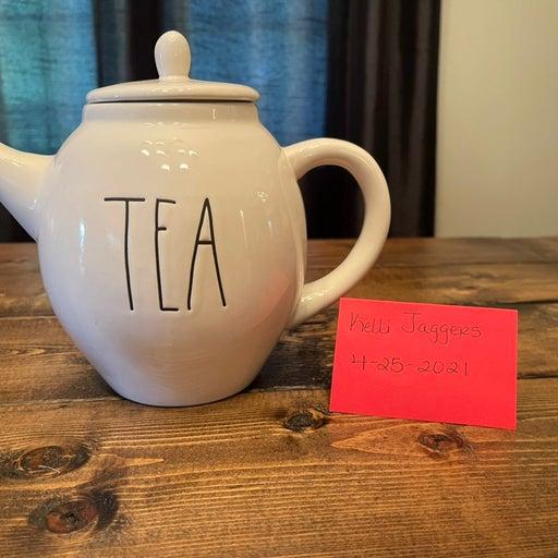 Rae Dunn oval teapot