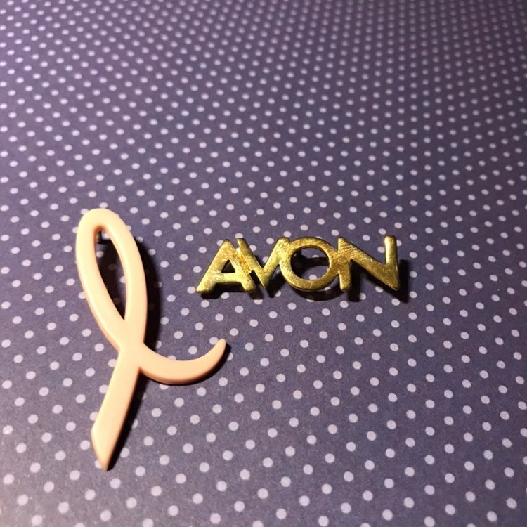 Vintage Avon pin and pink ribbon pin
