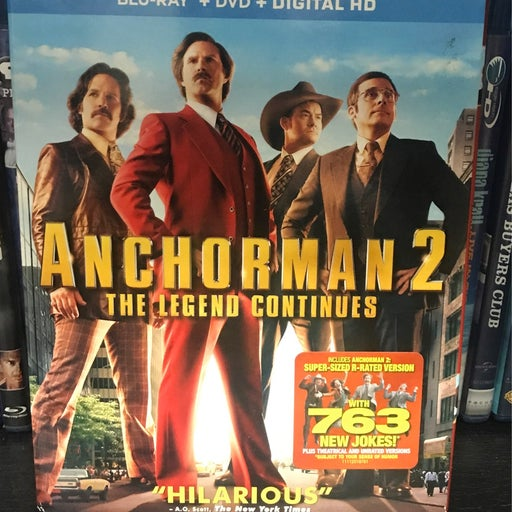 Anchorman 2: The Legend Continues (Blu-ray/DVD, Slipcover- New sealed