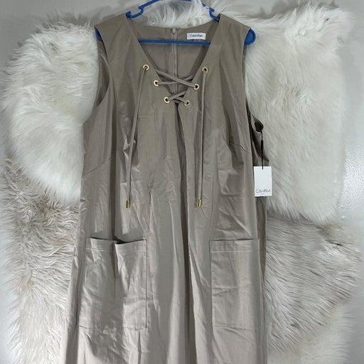 Calvin Klein NWT New Plus Size 22W Dress Khaki