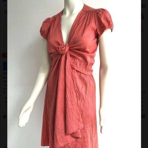 Calypso St Barth red Silk true wrap dress - sz S