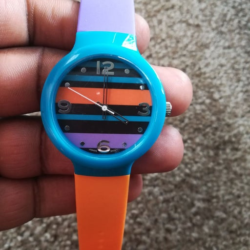 Silicone Band Unisex Wristwatch Stainles