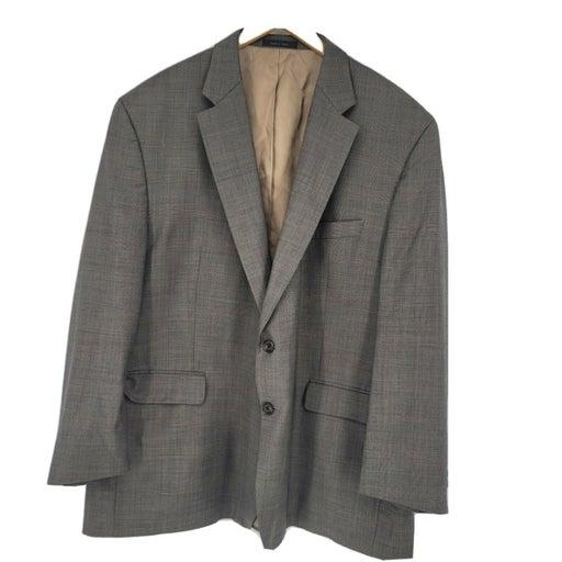 Lauren Ralph Lauren Mens Brown Wool Suit Jacket Two Button 52 Regular