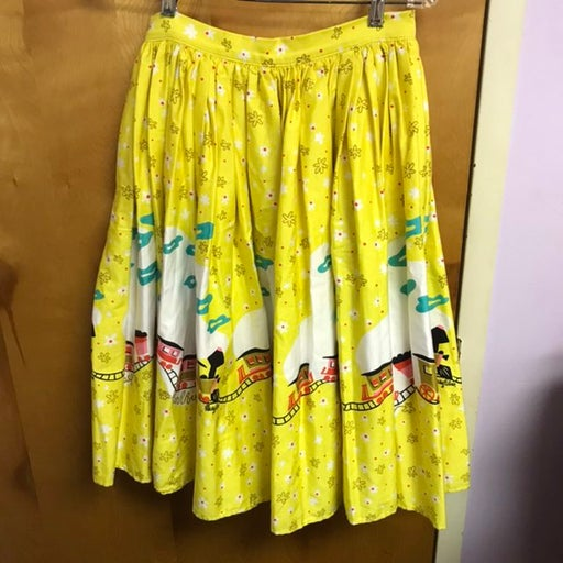Mary Blair Pinup Couture Train Skirt