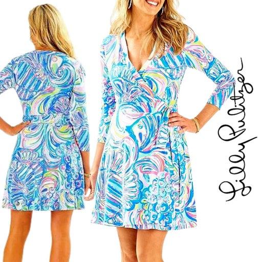 Lilly Pulitzer  XXS Emilia Wrap Dress in Multi Guilty Pleasure
