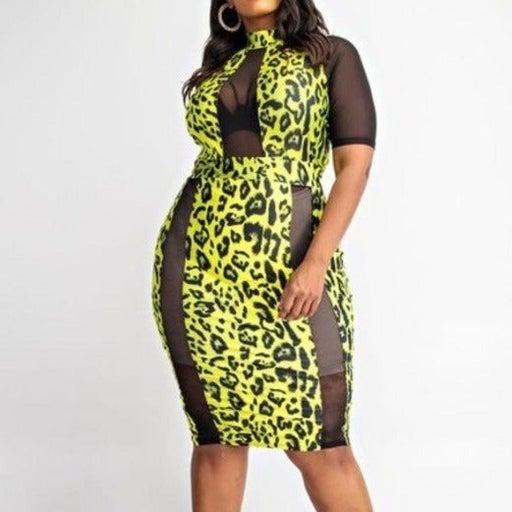 laced Cheetah Dress