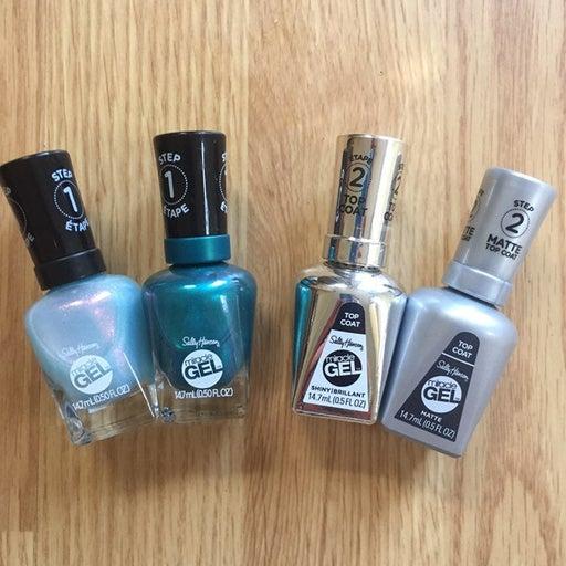 Lot Of Sally Hansen®️Miracle Gel™️ Steps 1 & 2 Nail Polish