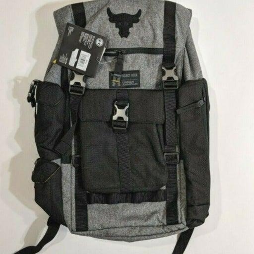 Under Armour Project Rock Regiment Backpack Grey 1325331-040 UA Laptop bag $135