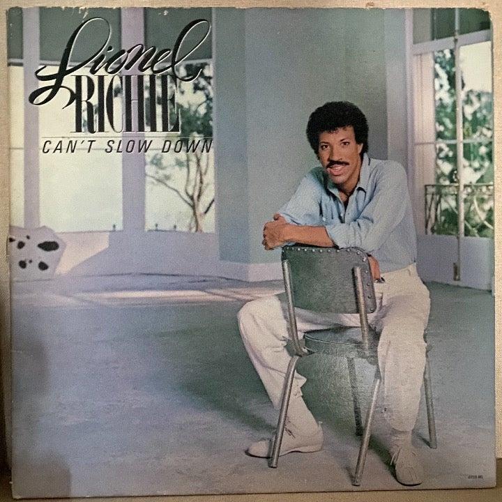 """Lionel Richie """"Cant Slow Down"""" Vinyl Rec"""