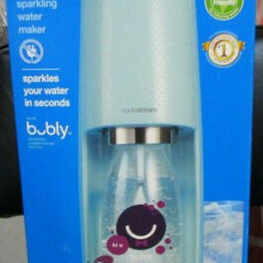 Sodastream Icy Blue x Bubly Drops Blackberry Cordless Sparkling Water Maker