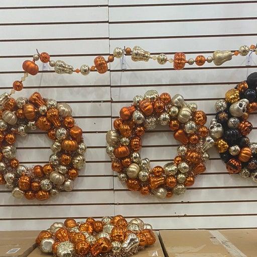 illuminated halloween wreath