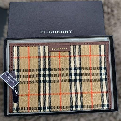 Burberry Leather Passport Holder