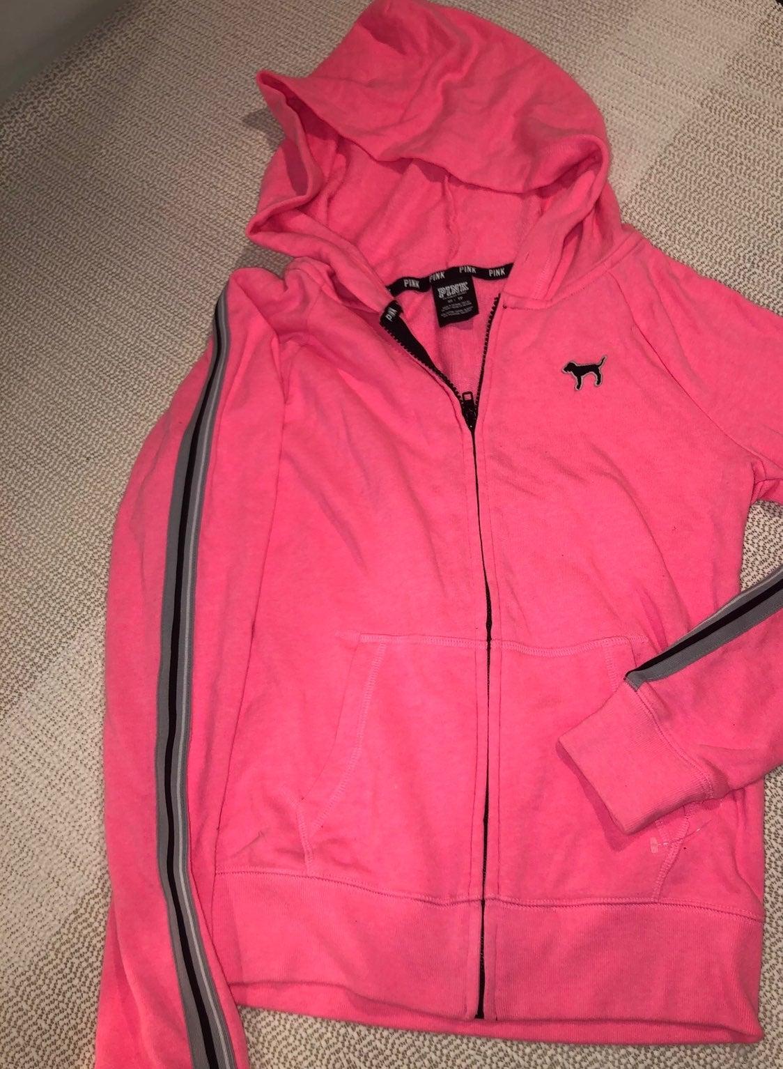 X small victorias secret pink hoodie