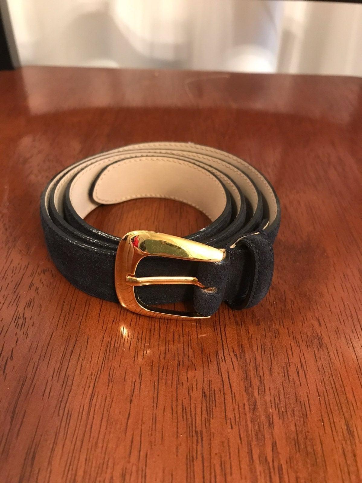 Talbots Women's suede slim belt