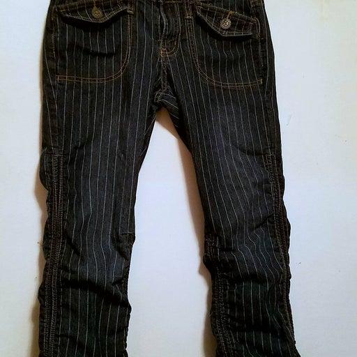 Ladies Striped Capri Jeans