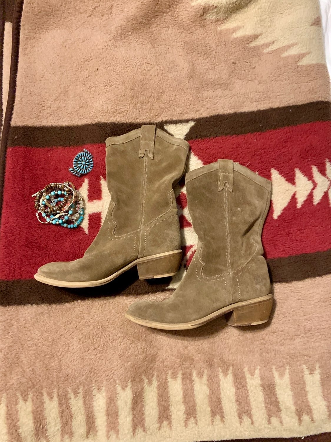 Nice  Bronx Suede Leather Mid Calf Boots