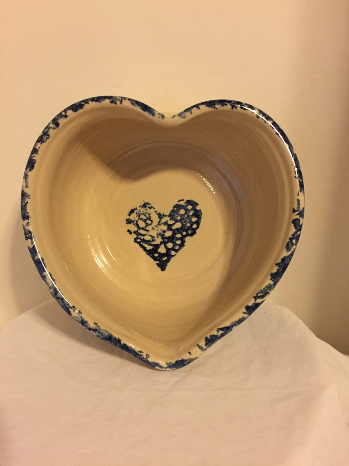 Stoneware Heart Shaped Bowl