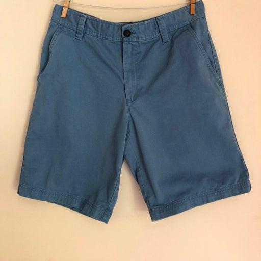 IZOD Saltwater Men's Blue Cotton Khaki Shorts Size 32