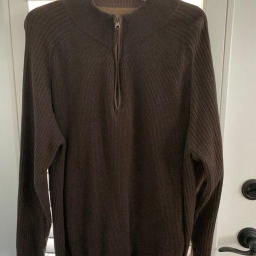 Mens XL Quarterzip Long Sleeve Sweater