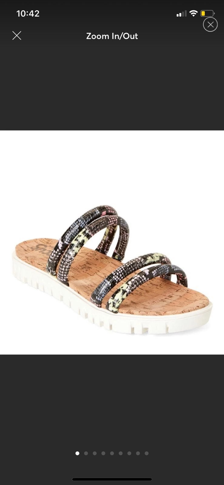 Brand Sam Edelman Multi Color Snake Prin