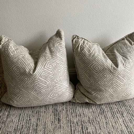 Pair of Custom Decorative Pillows