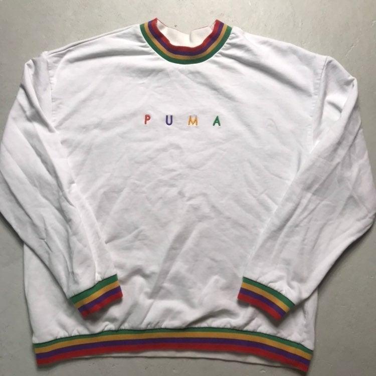 Womens Oversized Puma Organic Cotton Swe