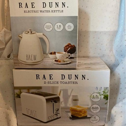 Rae Dunn BREW Kettle & TOAST Toaster NEW