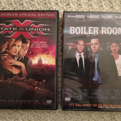 2 DVDs~xXx State of the Union~Ice Cube +New~Boiler Room~Vin Diesel~Action/Crime