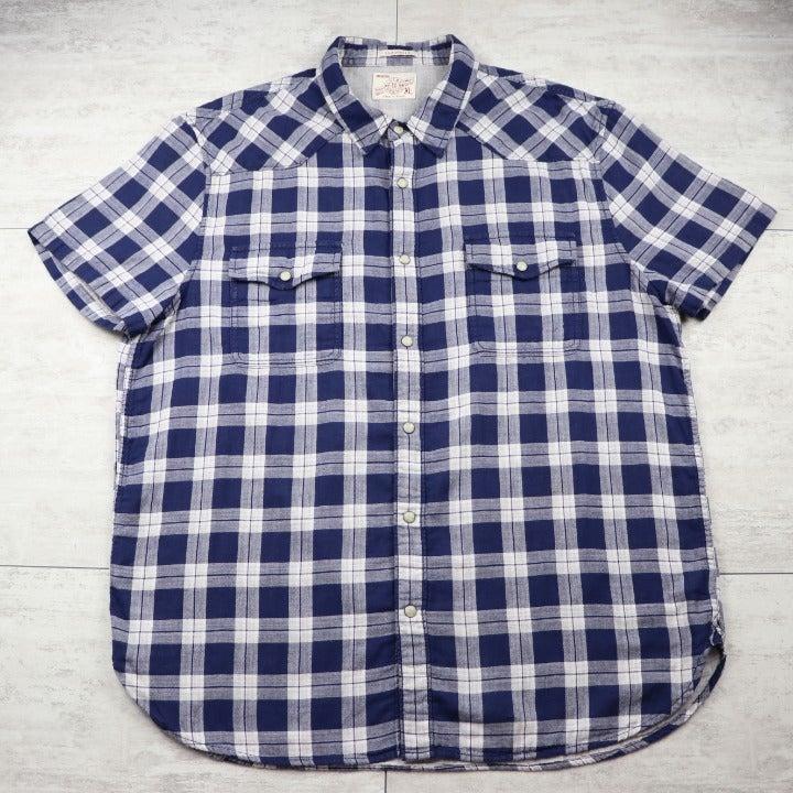 Men's Lucky Brand Casual Blue Shirt XL