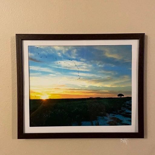 "Framed 8"" x 10"" Print of Delaware Bay Beach"
