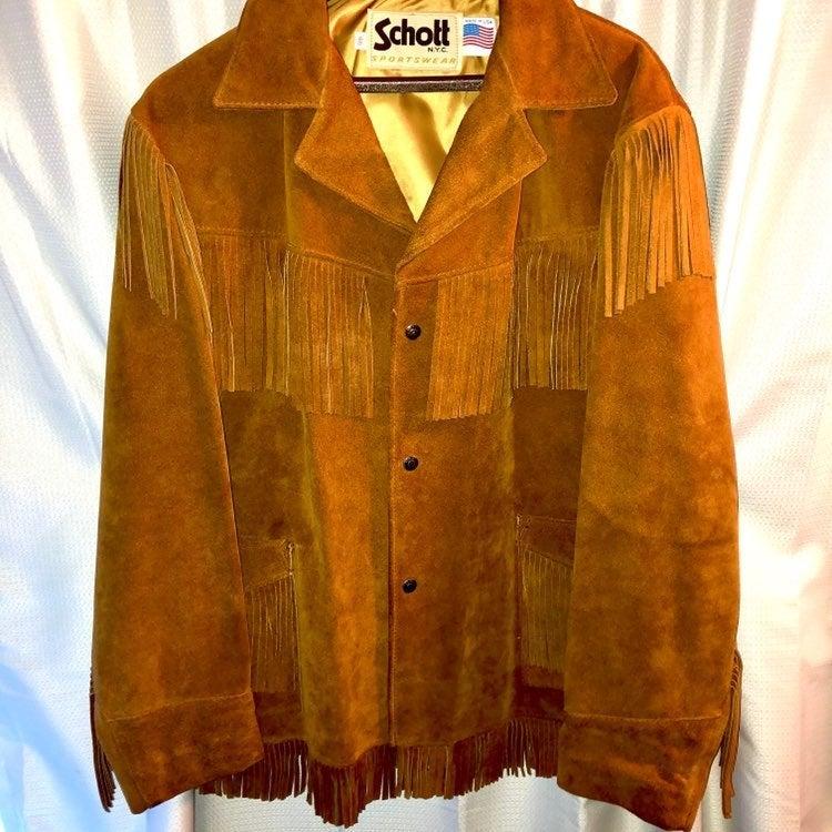Schott Sportswear Suede Fringe Jacket 46