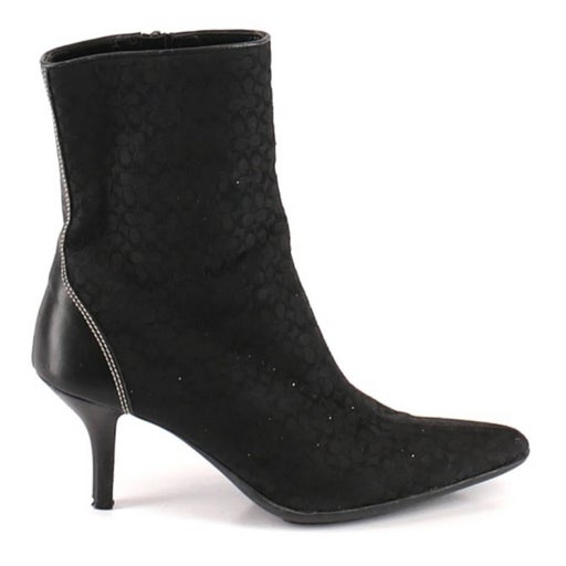Coach Jerry Logo Heeled Ankle Bootie 7.5