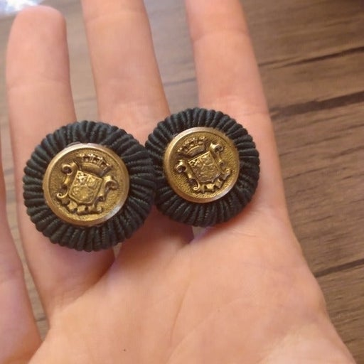 Premier design gold plated button earrings