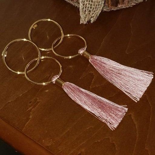 Gorjana Carmen Gold Hoop Earrings tassel