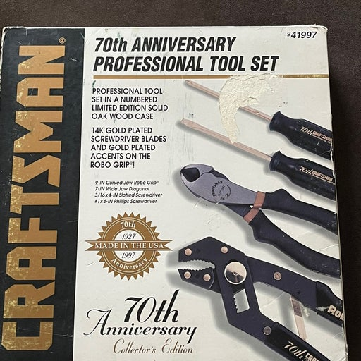 70th anniversary craftsman tool set