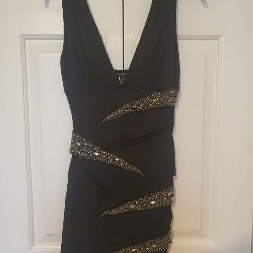 Black Embellished Bodycon Dress size S