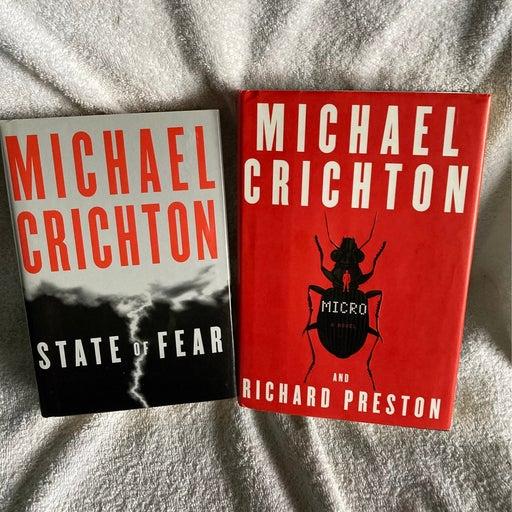 1st Edition 1st Printing Michael Crichton Hardback bundle (2)